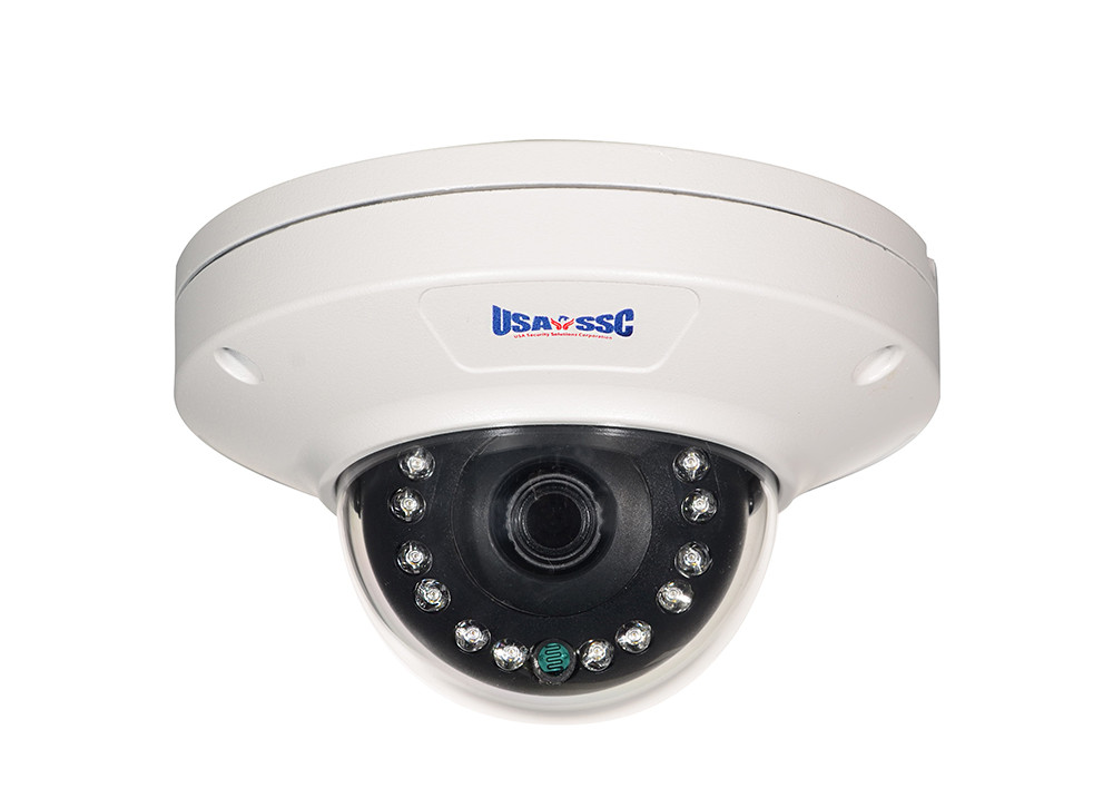 IP Network Camera, Indoor/Outdoor Dome Camera, 2MP, 3.6mm lens, IP65, IR Working Distance 10M (30 feet), 12VDC/PoE (IEEE 802.3af compliant), NTSC, White Housing
