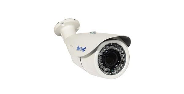 IP Network Camera, Indoor/Outdoor Bullet Camera, 1MP, 2.8-12mm varifocal lens, IP66, IR (Working Distance 45M (147 feet), 12VDC/PoE (IEEE 802.3af compliant), NTSC, White Housing