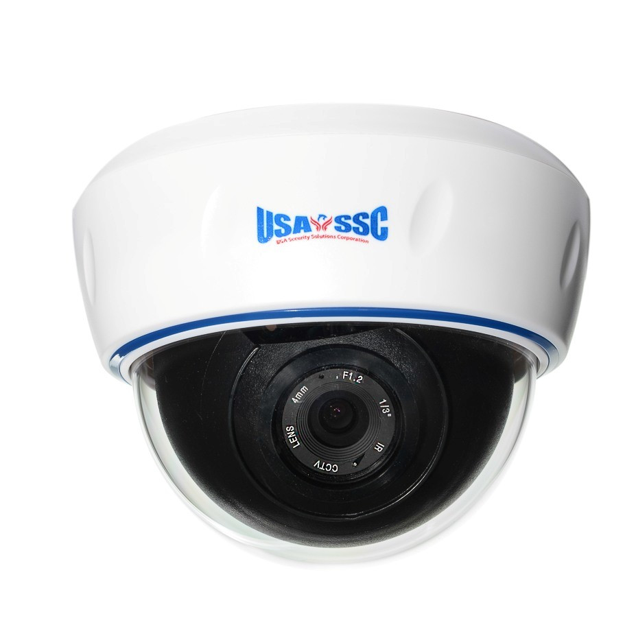 Indoor Dome Camera, Color, 7000TVL, 12VDC, 2.8-12mm, NTSC, White Housing