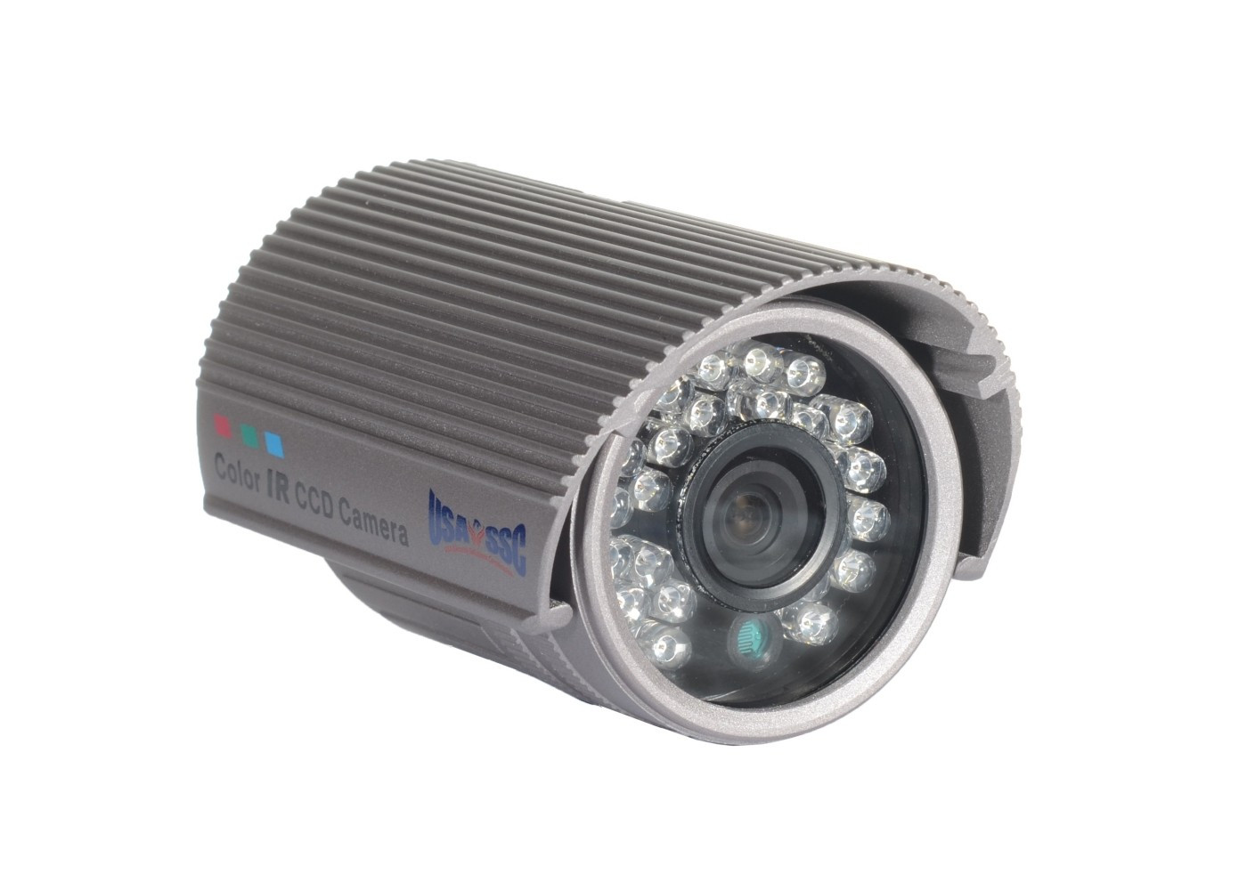 Indoor/Outdoor Bullet Camera, IR LEDs +/- 50', Color, 420TVL, 12VDC, 3.6mm, IP66, NTSC, Grey Housing