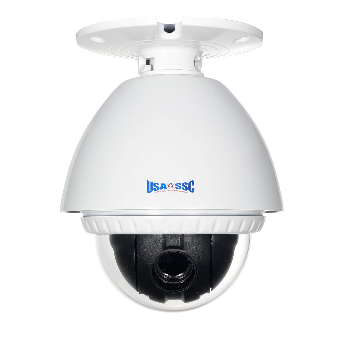 Outdoor  Mini PTZ Speed Dome Camera Color, 500TVL, 18x Zoom, 12VDC. NTSC, White Housing