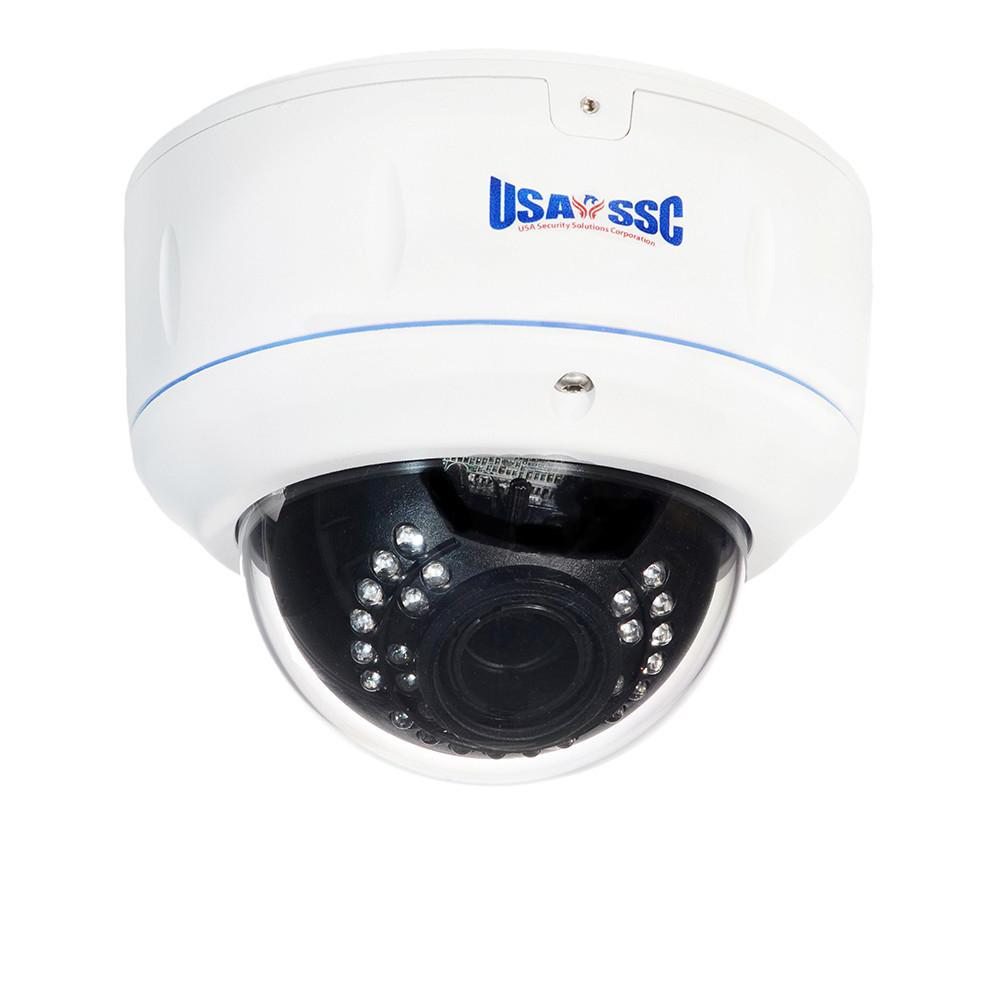 Vandalproof Indoor/Outdoor Dome Camera, IR LEDs +/- 100', Color, 420TVL, 12VDC/24VAC, 4-9mm, IP65, NTSC, White Housing