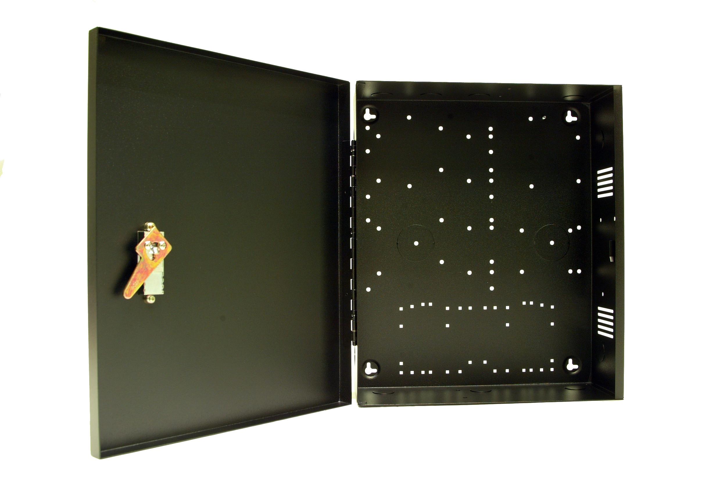 "Wall Mount Enclosure - Large ( 13.5""W x 15.75""H x 4.625""D) - Black"