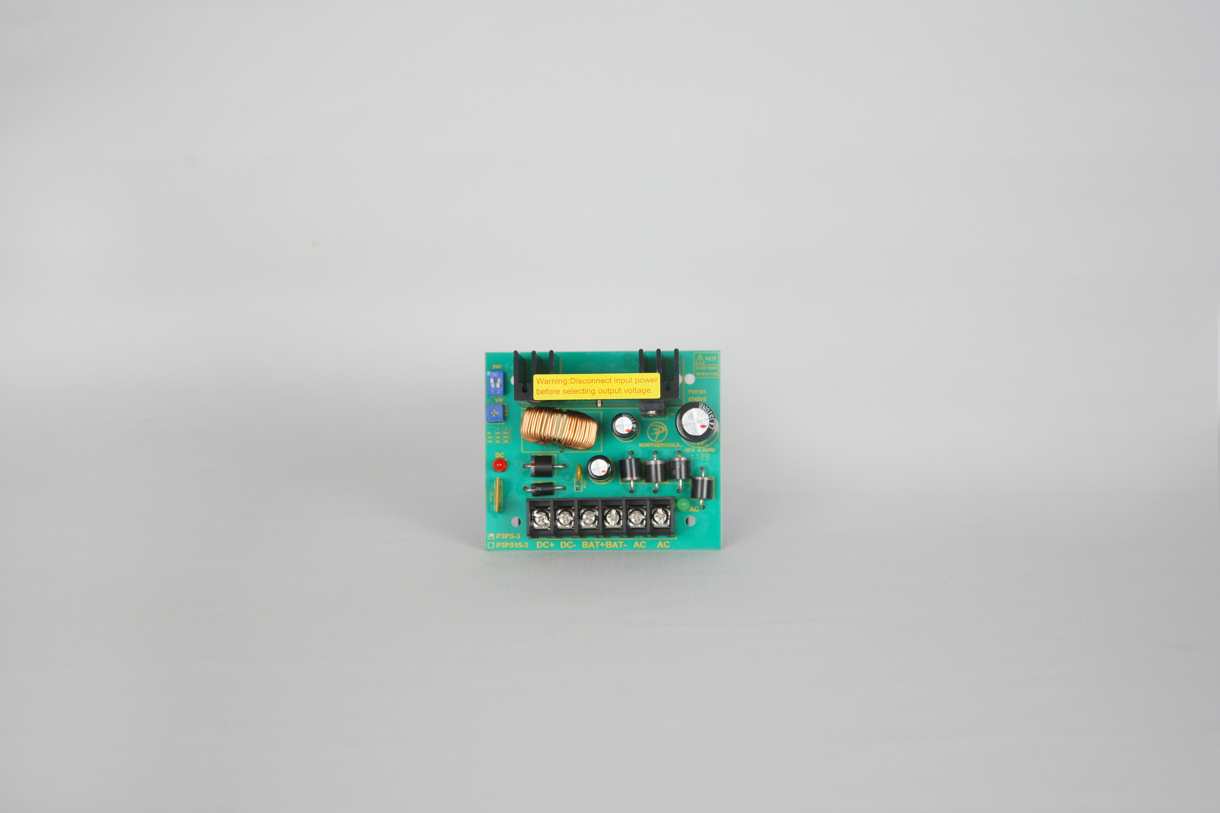 DC Switching Power Supply Board Kit - P3PS-3, SE100 Enclosure, P3PT2450 Plug in Transformer