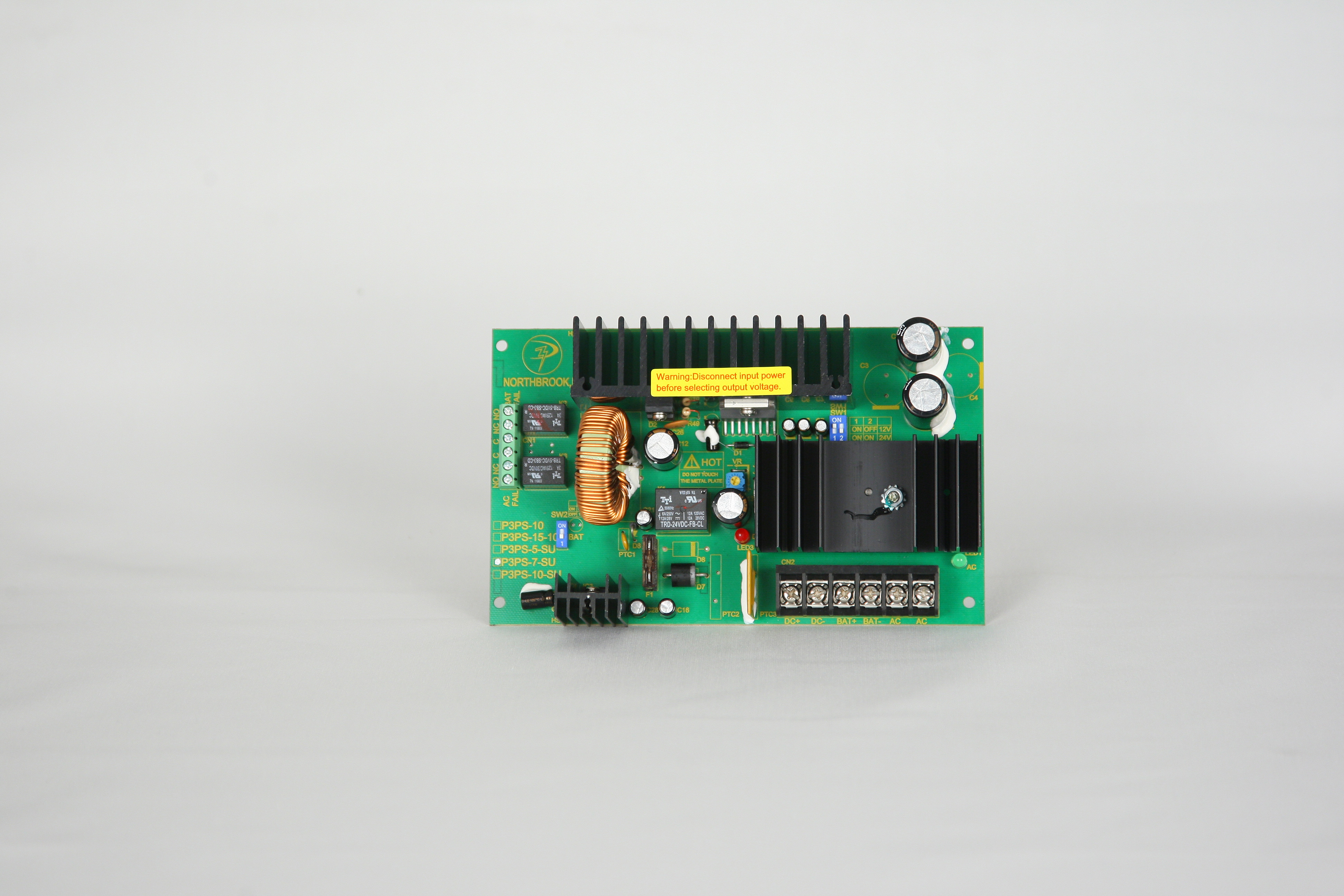 Dc Switching Power Supply Board Chargers Supervised 12 Or 24vdc 24v 7 Amps Ac Fail Low Battery Monitoring