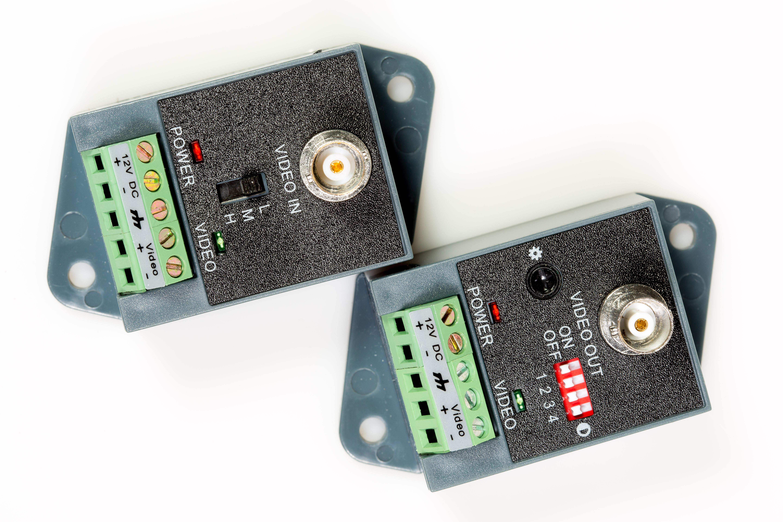 1CH Active UTP Video Balun Transceiver for CCTV Camera (1 Pair)
