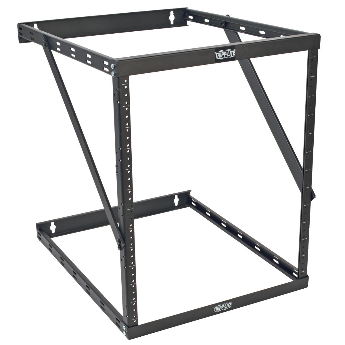 "Tripp Lite SmartRack 8U/12U/22U Expandable Low-Profile UPS-Depth Wall-Mount 2-Post Open-Frame Rack (Device depth 23.5"")"