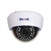 HD-TVI Camera, Indoor Dome Camera, 1080p (2MP), 2.8-12mm varifocal lens, IP50, IR (Working Distance 30M (98 feet), 12VDC, NTSC, White Housing