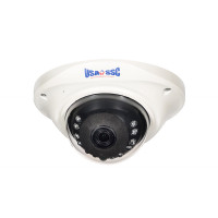 IP Network Camera, Indoor/Outdoor Wedge Dome Camera, 2MP, 3.6mm lens, IP65, IR Working Distance 10M (30 feet), 12VDC/PoE (IEEE 802.3af compliant), NTSC, White Housing