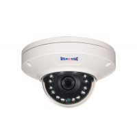 IP Network Camera, Indoor/Outdoor Dome Camera, 1MP, 3.6mm lens, IP65, IR Working Distance 10M (30 feet), 12VDC/PoE (IEEE 802.3af compliant), NTSC, White Housing