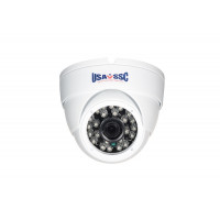 HD-TVI Camera, Indoor/Outdoor Dome Camera, 720p (1MP), 3.6mm lens, IP65, IR Working Distance 15M (49 feet), 12VDC, NTSC, White Housing