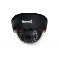 IP Network Camera, Indoor Dome Camera, 1MP, 2.8-12mm varifocal lens, IP50, IR (Working Distance 30M (98 feet), 12VDC/PoE (IEEE 802.3af compliant), NTSC, Black Housing