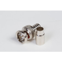 RG-59 and RG-62 Male 2-Piece Crimp-On BNC Connector, 75 Ohms (PKG/10)