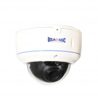 Vandalproof Indoor/Outdoor Dome Camera, Color, 700TVL, 12VDC/24VAC, 4-9mm, IP65, NTSC, White Housing