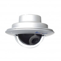 Vandalproof Indoor/Outdoor Camera, Color, 600TVL, 12VDC, 3.6mm, NTSC, Silver Housing