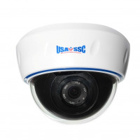 Indoor Dome Camera, Color, 7000TVL, 12VDC, 4-9mm, NTSC, White Housing