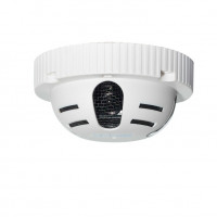 Hidden Camera, Smoke Detector, Indoor, Color, 600TVL, 12VDC, 3.6mm, NTSC, White Housing