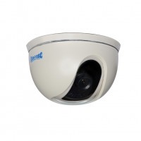 Indoor Dome Camera, Color, 420TVL, 12VDC, 3.6mm, NTSC, White Housing