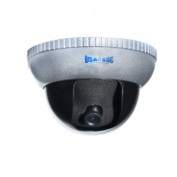 Vandalproof Indoor/Outdoor Dome Camera, Color, 420TVL, 12VDC, 3.6mm, IP65, NTSC, Grey Housing