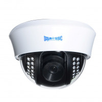 Indoor Dome Camera, IR LEDs +/- 80', Color, 420TVL, 12VDC, 3.6mm, NTSC, White Housing