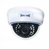 Indoor Dome Camera, IR LEDs +/- 50', Color, 700TVL, 12VDC, 4-9mm, NTSC, White Housing