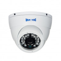 Indoor Dome Camera, IR LEDs +/-  50', Color, 700TVL, 12VDC, 3.6mm, NTSC, White Housing