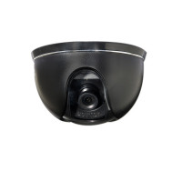 Indoor Dome Camera, Color, 420TVL, 12VDC, 3.6mm, NTSC, Black Housing