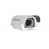 License Plate Camera, IR LEDs +/- 160', Color, 700TVL, 12VDC, 9-22mm, IP65, NTSC, White Housing