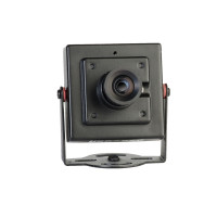 Mini-Camera, Indoor, Color, 600TVL, 12VDC, 3.6mm, NTSC, Black Housing