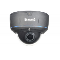 Vandalproof Indoor/Outdoor Dome Camera, Color, 700TVL, 12VDC/24VAC, 2.8-12mm, IP65, NTSC, Black Housing
