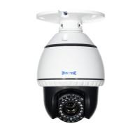 Indoor Mini PTZ Speed Dome Camera IR LEDs +/- 50',Color, 500TVL, 10x Zoom, 12VDC, NTSC, White Housing