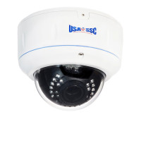 Vandalproof Indoor/Outdoor Dome Camera, IR LEDs +/- 100', Color, 700TVL, 12VDC/24VAC, 4-9mm, IP65, NTSC, White Housing