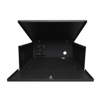 "DVR Lockbox with Cooling Fan 21"" W x 24"" L x 8"" H 120x120x40mm 110VAC Cooling Fan"