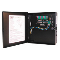 CCTV Power Supply - 24 VAC, 4 Out, 7.25 Amp, Fused