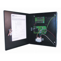 CCTV Power Supply - Selectable Output - 6,12,15 VDC,  8 Out, 4 Amp, Open Frame Transformer, Fused,  UL LISTED