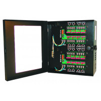CCTV Power Supply - Combo AC/DC Outputs - 12 VDC, 8 Out, 5 Amps & 24 VAC, 8 Out, 4 Amp, Fused