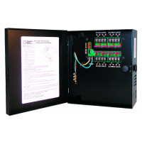 CCTV Power Supply - Selectable Output - 12 or 24 VDC, 8 Out, 5 Amp, Fused