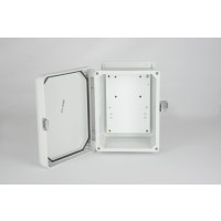 "Wall Mount Enclosure - NEMA 4X Weather Proof Enclosure (8""H x 6""W x 4""D) - Gray - w/ Back Plate - UL LISTED"