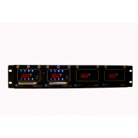 CCTV POWERMAX 3 Rack Mount Power Supply Configured - 24 VAC, 16 Out,  8 Amp (Consists of 1 P3RK2RU, 2 P3M24-8-4 and 2 P3BP4) - UL LISTED