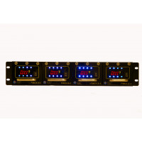 CCTV POWERMAX 3 Rack Mount Power Supply Configured - 24 VAC, 32 Out, 16 Amp (Consists of 1 P3RK2RU and 4 P3M24-8-4) - UL LISTED