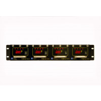CCTV POWERMAX 3 Rack Mount Power Supply Configured - 12 VDC, 16 Out, 16 Amp (Consists of 1 P3RK2RU and 4 P3M12-4-4)