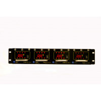 CCTV POWERMAX 3 Rack Mount Power Supply Configured - 12 VDC, 32 Out, 16 Amp (Consists of 1 P3RK2RU and 4 P3M12-8-4)