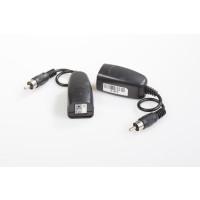 1CH Passive UTP Audio Balun Transceiver, RCA Pigtail model
