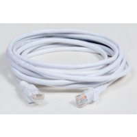 Cat 5e Patch Cord, Stranded, UTP, 24AWG, 10ft, White