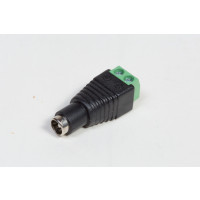 CCTV Power Plug w/terminals, Female Plug 2.5x5.5mm