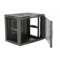 12U, 17″ Deep Fixed Wall Rack w/Glass Door