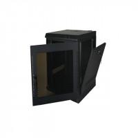 14U, 20″ Deep Fixed Wall Rack w/Acrylic Door and Removable Side Panels