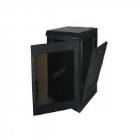 16U, 20″ Deep Fixed Wall Rack w/Acrylic Door and Removable Side Panels