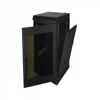 20U, 28″ Deep Fixed Wall Rack w/Acrylic Door and Removable Side Panels