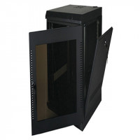 28U, 28″ Deep Fixed Wall Rack w/Acrylic Door and Removable Side Panels